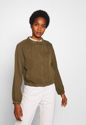 FEMME UTILITY - Denim jacket - khaki