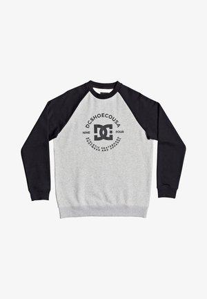 Long sleeved top - heather grey/black