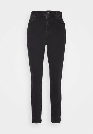 PCLEAH MOM  - Slim fit jeans - black