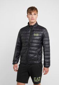 EA7 Emporio Armani - Down jacket - black / neon / yellow - 0