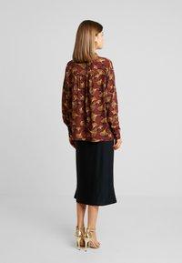 Vila - VIOPENING PEYTON - Button-down blouse - navy blazer/kecthup - 2