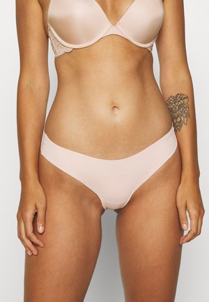 INVISIBLE LOW-RISE THONG - 2 PACK - String - blush