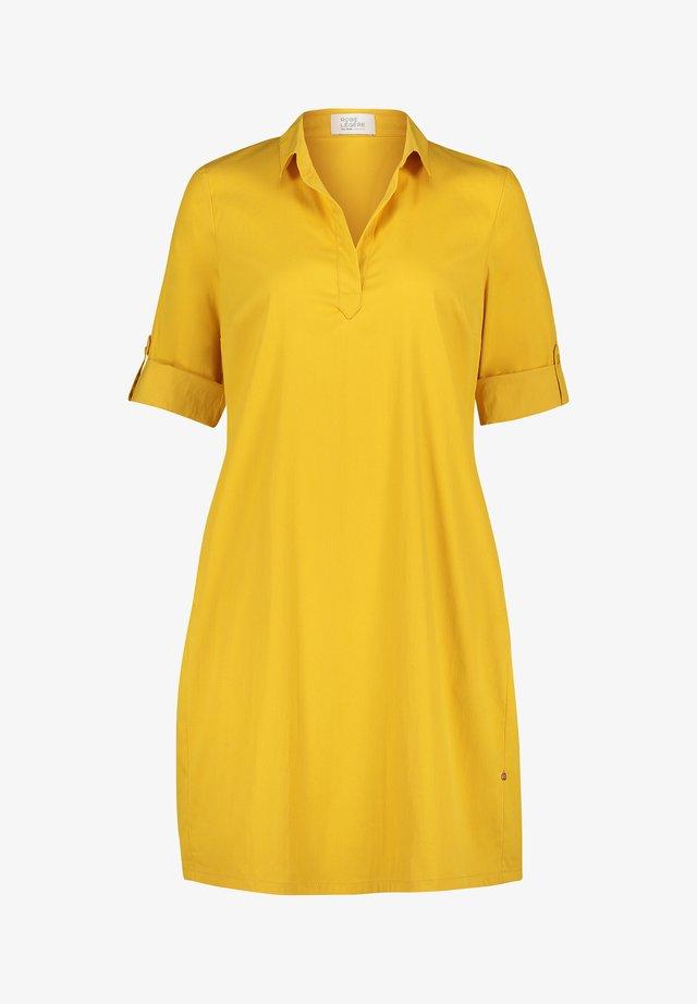 Shirt dress - brass