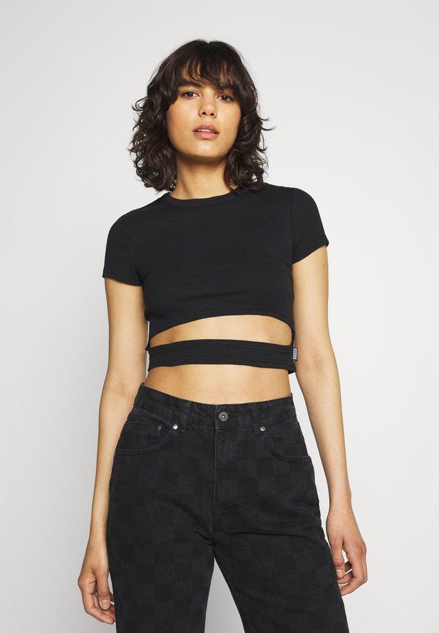SOUL TEE - Print T-shirt - black