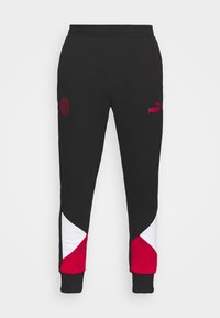 AC MAILAND FTBLCULTURE TRACK PANTS - Tracksuit bottoms - black/tango red