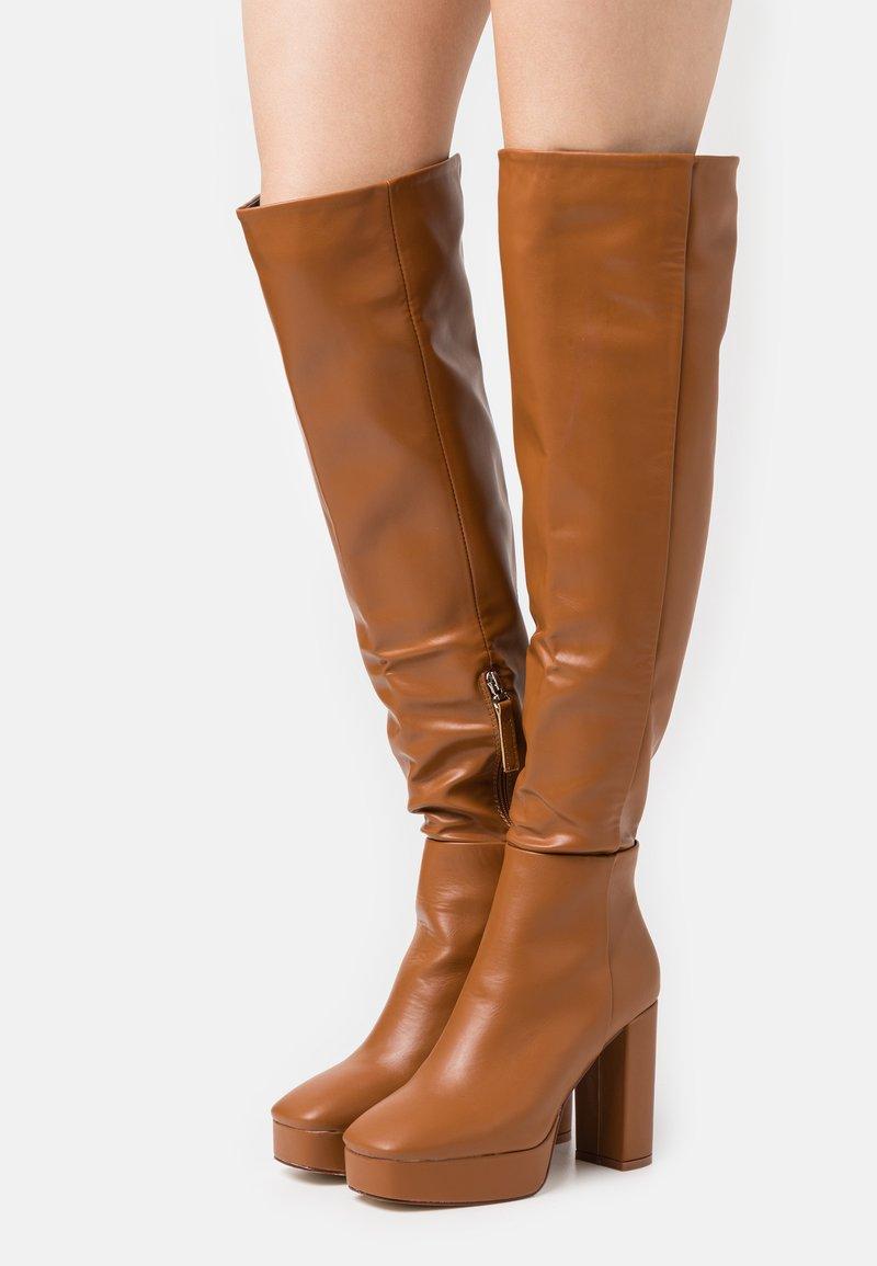 RAID - CAROLINA - High heeled boots - cognac