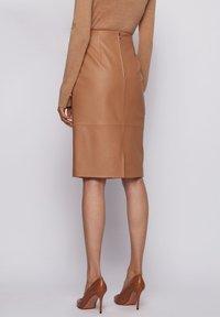 BOSS - SEPASSA - Pencil skirt - light brown - 2