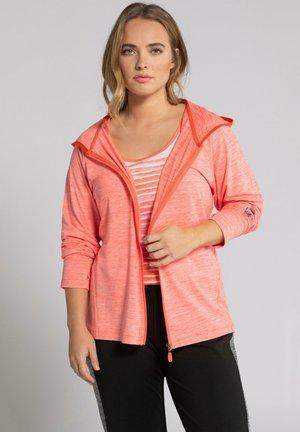 Zip-up hoodie - rosenkoralle-melange