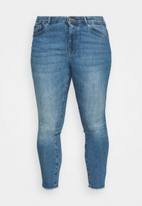 ONLY Carmakoma - CARRUSH LIFE   - Jeans Skinny Fit - medium blue denim - 3