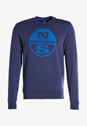 ROUND NECK W/GRAPHIC - Sweatshirt - navy blue