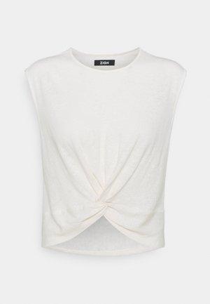 T-SHIRT-LINEN BLEND - T-shirt print - off white