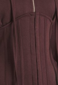 Missguided - CORSET HOODY - Mikina na zip - burgundy - 7