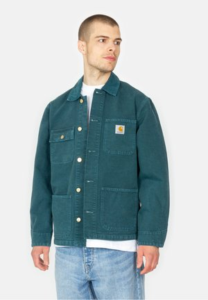 MICHIGAN - Summer jacket - deep lagoon worn canvas