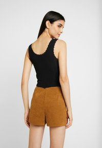 BDG Urban Outfitters - POINTELLE TANK - Topper - black - 2