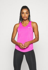 Nike Performance - TANK BREATHE - Funktionströja - fire pink/reflective silver - 0