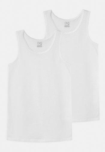 SINGLET 2 PACK - Undershirt - brilliant white
