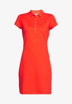 SLIM POLO DRESS - Denní šaty - bright vermillion