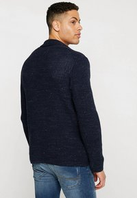 Pier One - Cardigan - mottled dark blue - 2