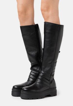 MARGHERITA - Platåstøvler - black garda