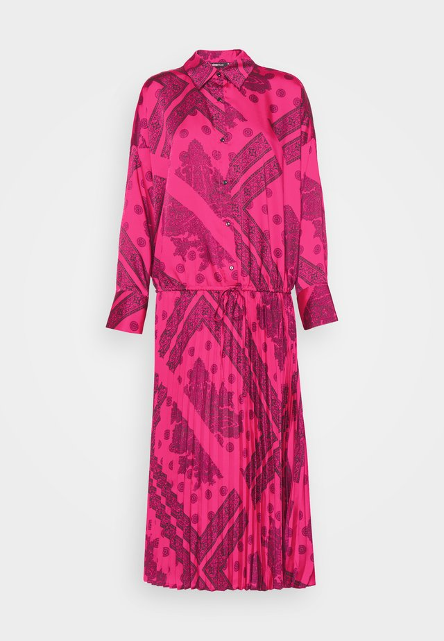 LOLA PLEATED DRESS - Blousejurk - pink/black