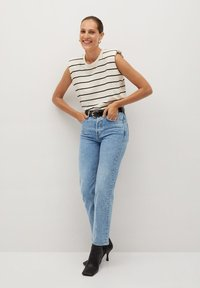 Mango - PREMIUM - Straight leg jeans - mellanblå - 1