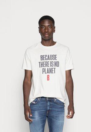 MIN MAN - T-shirt print - white sand