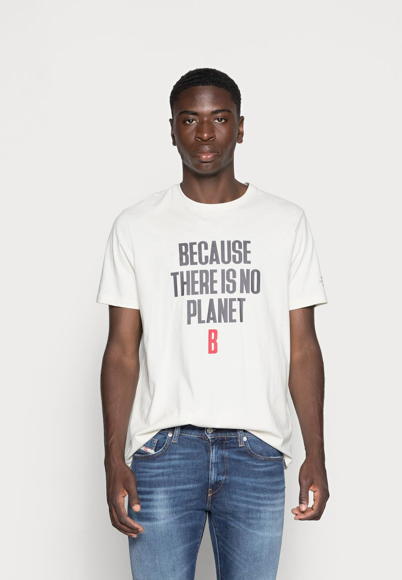 Ecoalf - MIN MAN - Print T-shirt - white sand