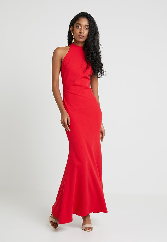HIGH NECK DRESS - Maxi dress - red