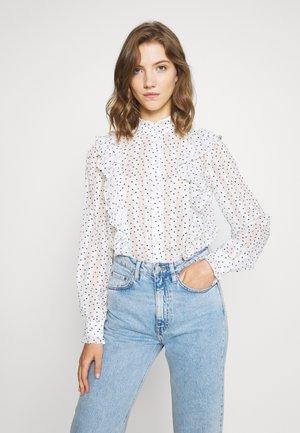 YASCARO - Button-down blouse - star white