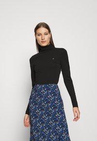 Calvin Klein - TURTLE NECK - Long sleeved top - black - 0