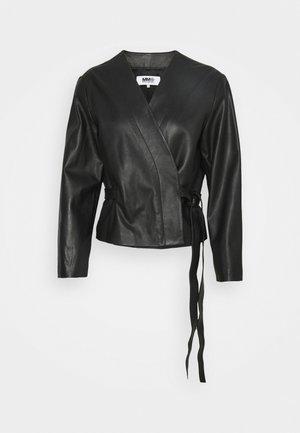 Giacca di pelle - black