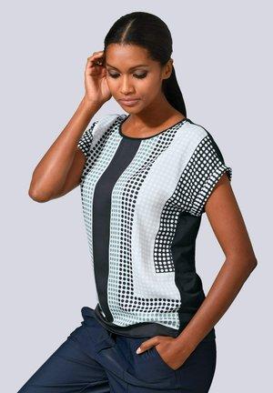 Print T-shirt - marineblau,salbeigrün