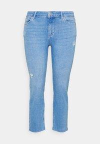 PCDELLY STRAIGHT ELECTRIC - Straight leg jeans - light blue denim