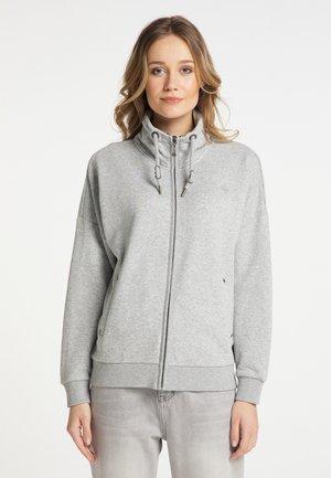 Zip-up hoodie - hellgrau melange