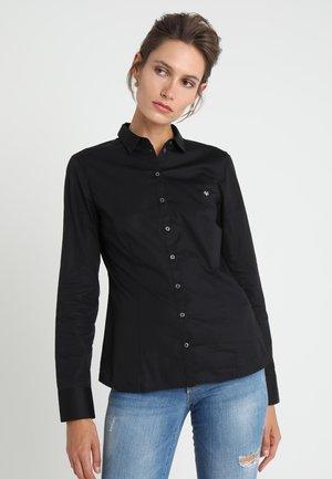 BLOUSE CLASSIC STYLE - Button-down blouse - black