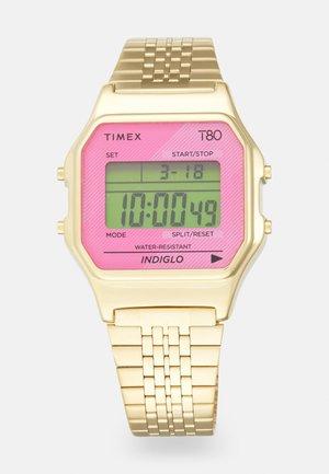 T80 UNISEX - Digitaal horloge - goldtone/hot pink