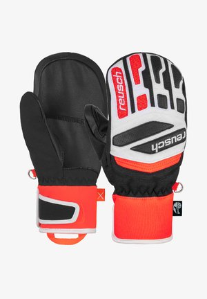 FÄUSTLING WORLDCUP WARRIOR  - Mittens - black/white/fluo red