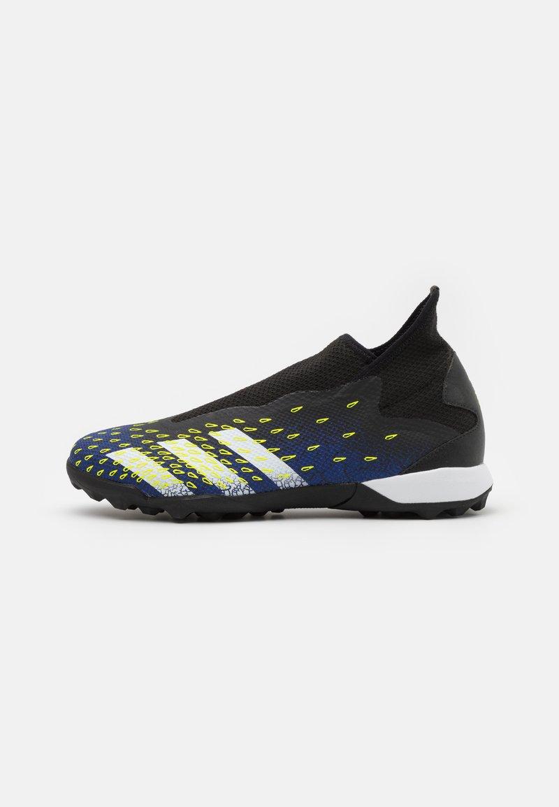 adidas Performance - PREDATOR FREAK .3  - Astro turf trainers - core black/footwear white/solar yellow