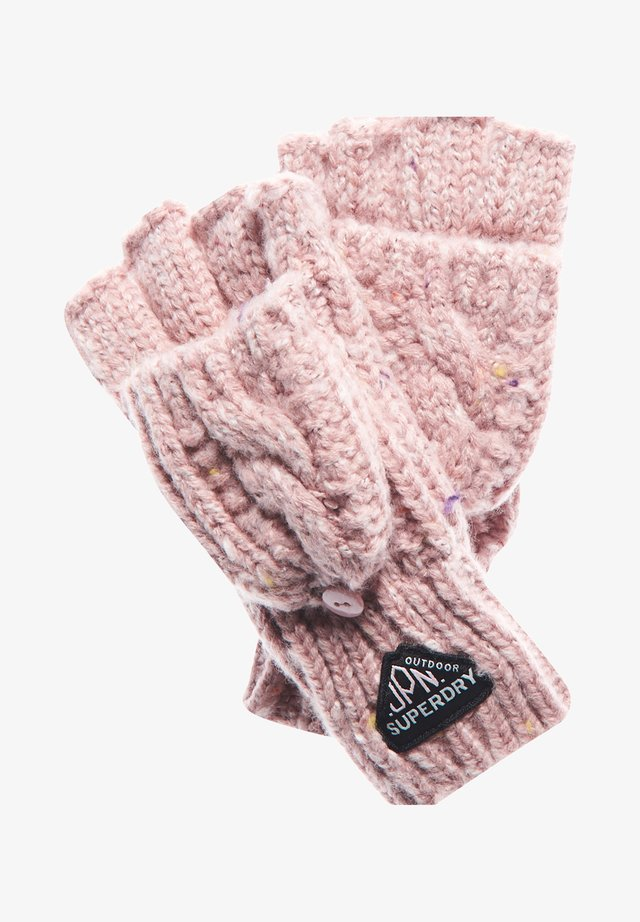 GRACIE - Fingerless gloves - candy tweed pink