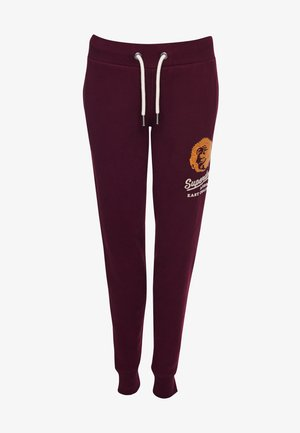Tracksuit bottoms - rich berry