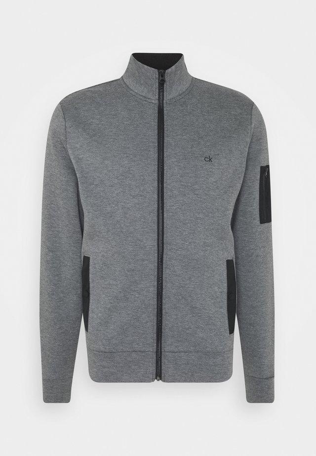 TECHNO FULL ZIP JACKET - Cardigan - dark grey heather