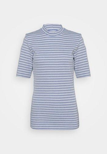 ATTACK - Print T-shirt - navy