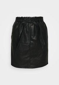 One Green Elephant - ONLRIGIE PAPER BAG SKIRT - Pouzdrová sukně - black - 3