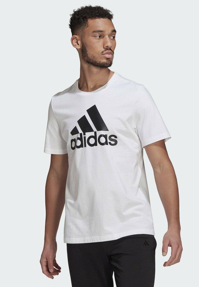 adidas Performance - ESSENTIALS BIG LOGO T-SHIRT - Print T-shirt - white