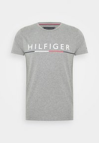 Tommy Hilfiger - GLOBAL STRIPE TEE - T-shirts print - grey - 3