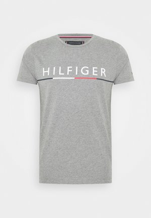 GLOBAL STRIPE TEE - T-Shirt print - grey