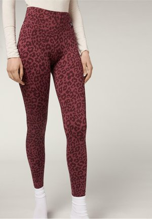 Leggings - Trousers - animalier malva
