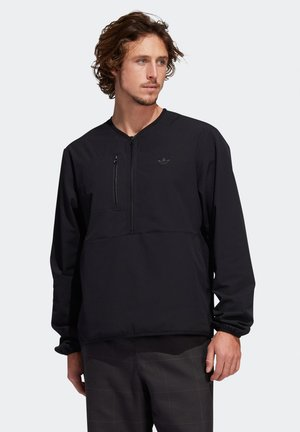 Sweatshirt - black / oyster white