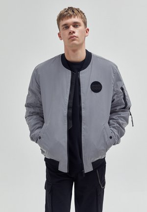 Giubbotto Bomber - mottled light grey