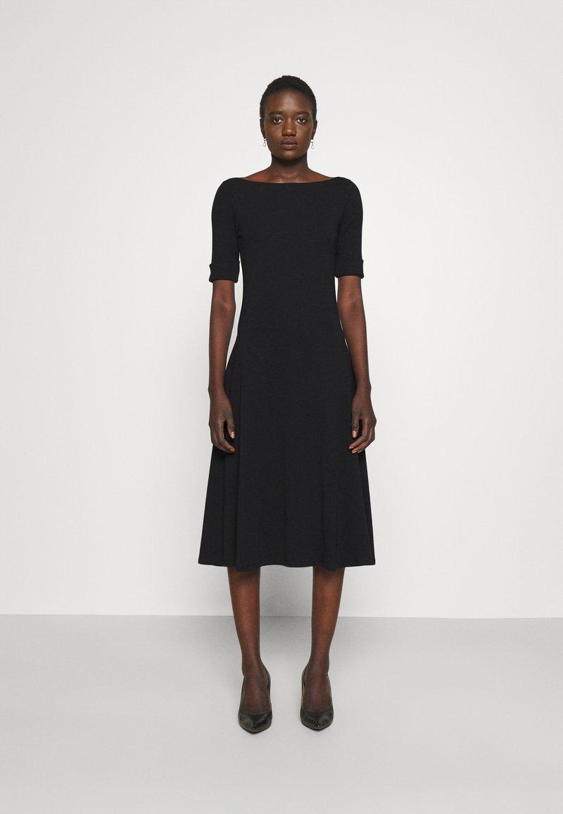 Lauren Ralph Lauren - MUNZIE ELBOW SLEEVE CASUAL DRESS - Jersey dress - black
